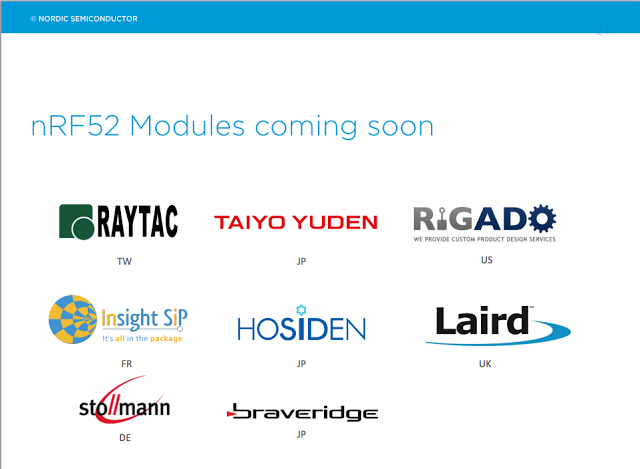 nordic global tech tour nRF52 suggested maker
