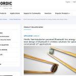 NordicのニュースリリースにてRaytacのMDBT42Vの紹介