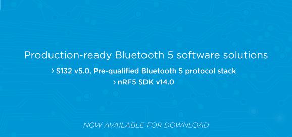 Nordic Bluetooth 5認証済み開発ソリューション提供