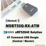 nRF52840搭載 USBドングルタイプにAT Command版が追加